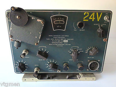 WWII Air Force Radio Receiver, 1942 RCA Victor, Royal Canadian Army Signal Corps