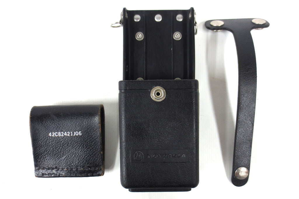 Vintage Motorola 2-Way Radio Holster w/ Belt Hook & Holding Strap, HT 50 90 440