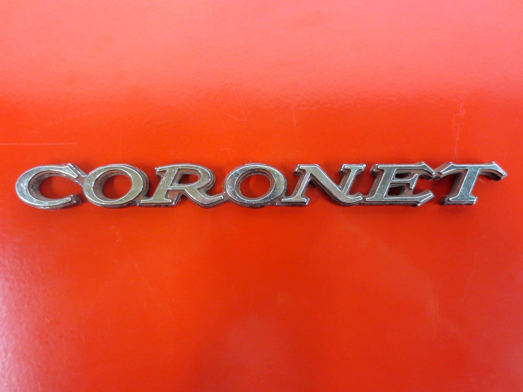 Vintage Muscle Car Dodge Coronet Deluxe Chrome Script Emblem 1968-70