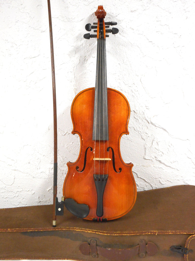 Vintage Stradivarius Violin Copy, Bow and Case, Quality Czech Copy, Great Sound