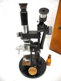 Vintage Antique Carl Zeiss Jena Refractometer Microscope No 54244 Germany with BOX AND TAG
