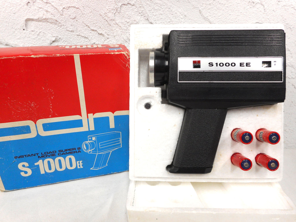 Vintage 8 mm Movie Camera by PDM, Instant Load S-1000ee With Box, New