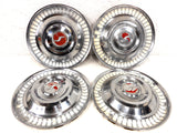 "Vintage Studebaker 1950-1960 Hubcaps 15"" Dog-Dish Wheel Covers SET OF 4"