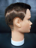 "Vtg Dannyco Mannequin Head 10"" Shaved Auburn Hair Cut, Store Display, Prop"