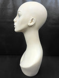 "Vintage 1950's Woman Mannequin Head Bust 19"", Art Deco Jewelry Store Display"