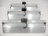 3 Industrial Stainless Steel Neon Track Light Fixtures Juno TBX39, Billiard Showcase, Neons, Swivels