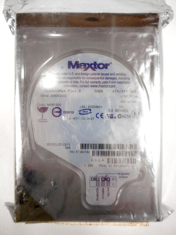 Sealed Maxtor DiamondMax Plus 8 Hard Drive 30GB ATA/133 HDD 3.5 Series With Tags, Unopened New