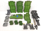 Lot of 40 Mega Bloks Parts Green Grass Base Plates Terrain and Gothic Castle, Dragon Warriors Platforms Battlescapes