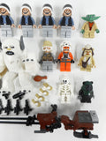 Lego Lot of 22 Star Wars Minifigures and 19 Accessories, Hot Wampa 8089 Monster, Yoda, Luke, Zev