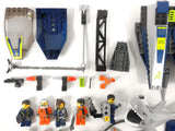 Lego Lot of 8 Minifigures, 175 Vehicules Parts from Lego Agents Speed Boat Rescue 8633, River Heist 8968