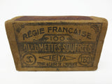 WWII Soldier Domino Game, French Seita Matchbox 100 Régie Francaise Allumette #1