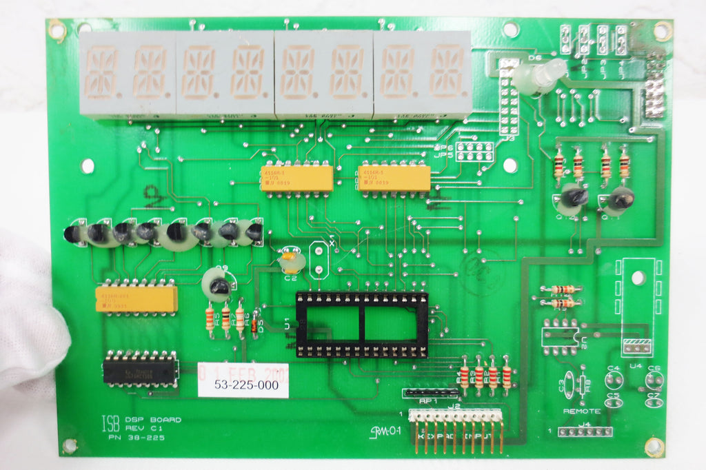 LED Display Board Card 8 Characters by ISB, DSP Board Model 38-225, Rev C1