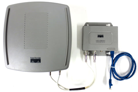Cisco Aironet 54Mbps Wifi Outdoor Access Point Bridge w/ Power Injector, Cables
