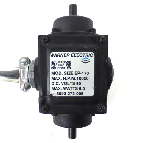 Warner Electric Motor Model EP-170, 10 000 RPM, 90VDC, 6W, Compact Size 6X3""