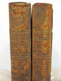 Antique 1820 Robinson Crusoe by Daniel Defoe 2 Volumes Preface by Barbauld