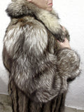 "Vintage Silver Tip Racoon Fur Coat Signed Oslo Montreal 53"" Long, Ladies Fur Coat"