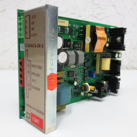Schneider Merlin Gerin Power Supply Circuit Board Card 120V, CADAC6-50-X, ZS5019