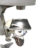 "Vintage Bausch & Lomb Inverted Laboratory Microscope Magnifier 30"" Tall, Powerful Light, 3 Objectives, Swivels, 3 3/4"" Mirror"