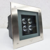 "Simes Italy Modern Design Recessed Exterior Flush Mount LED Downlight, 7.75"" Sq."