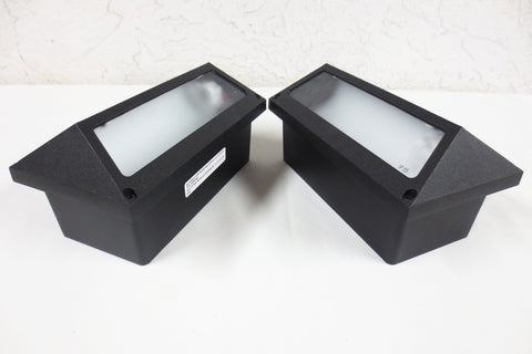 Simes Italy Modern Design Pair of Recessed Exterior Ground Wall Lights 10X5 Rect