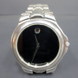 Movado Black Museum Dial Quartz Men's Watch Steel Bracelet Model 84 E4 9881