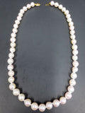 "Vintage Princess Cultured Pearls Necklace 17"", 48 Pearls 8-9mm $1500 Value"