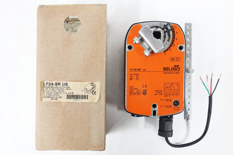 New Belimo LF24-SR US Spring Return Damper Actuator 24VAC/DC Modulating 35 in-lb