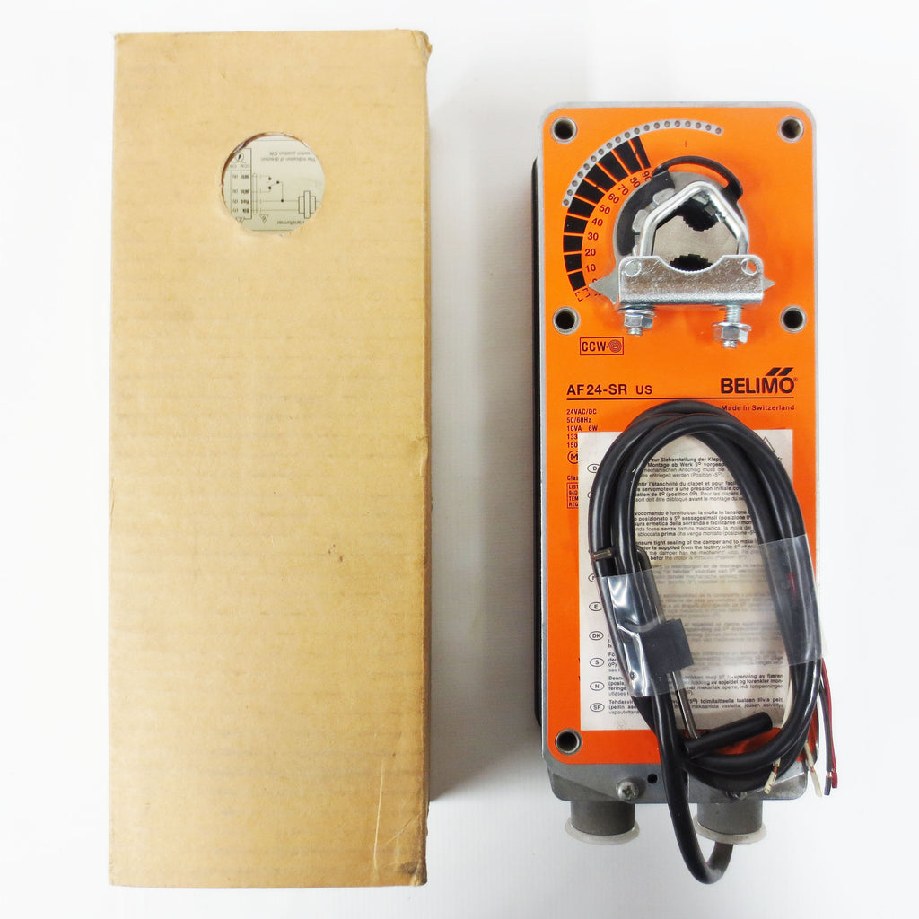 New Belimo AF24-SR US Spring Return Damper Actuator 133in-lb 24VAC/DC Modulating