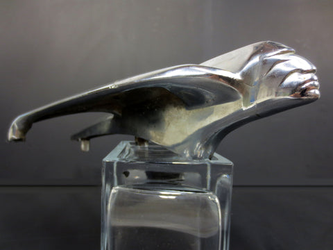 1954 Pontiac Chieftain Hood Ornament Flying Indian Chrome Rat Rod