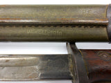 WWI 1917 US Remington Enfield Bayonet with Scabbard, Kills on Handle 22""