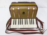Hohner Starlet 40 Bass Accordion with Straps, Burgundy Red, SERVICED