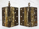 "Pair of Antique 1880's Victorian Door Hinges Eastlake, LARGE 6X6"", MATCH"