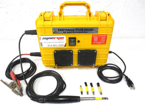 Weld Cleaning Machine Electro Chemical Polisher EASYKleen PLUS Brush DC, Stainless Steel Polish, TIG MIG & Stick, Complete