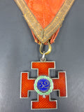 Vintage Masonic Medal Scottish Rite 32, Sterling Silver Enamel Teutonic Cross