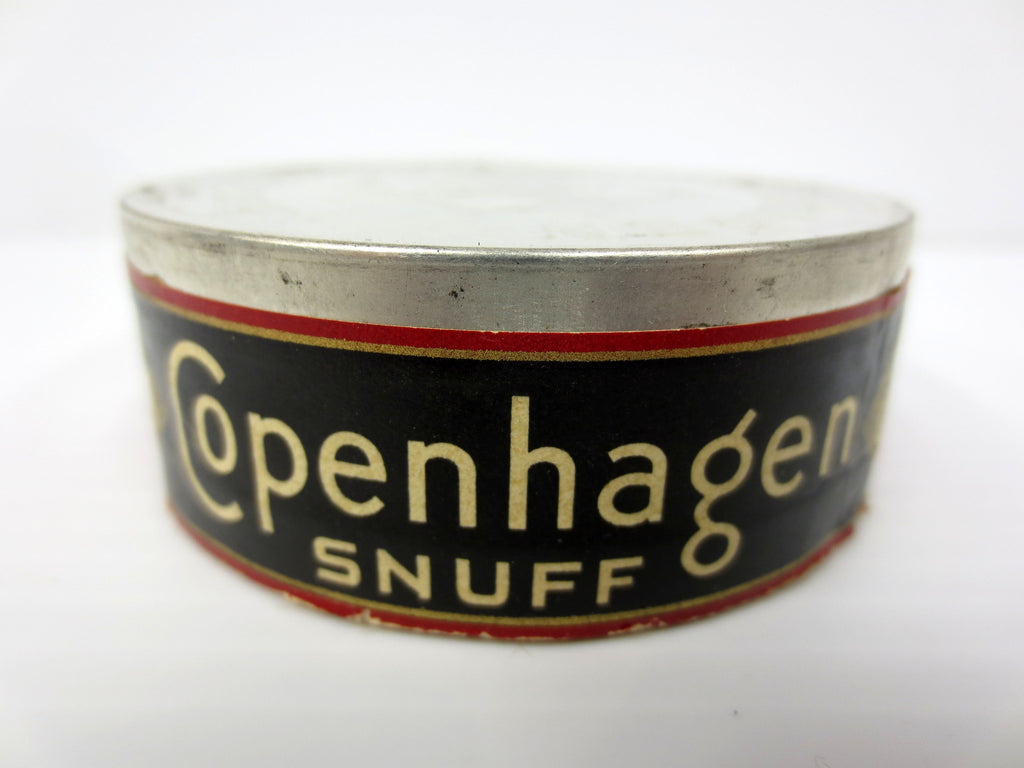 Vintage Copenhagen Snuff Tobacco Chew Box with Stamp 65 mm UNOPENED