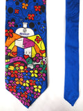 Rare Romero Britto Absolut Vodka Neck Tie, Handmade 100% Silk, Vodka Advertising, Limited Edition