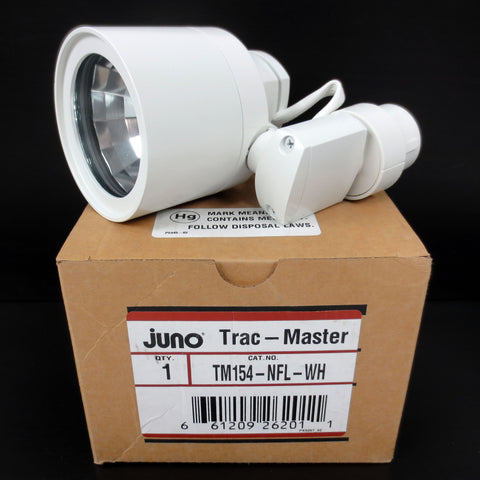 New Juno Trac-Master Lighting Spotlight TM154, 3400 Lumens 39 Watts T4, Swivel