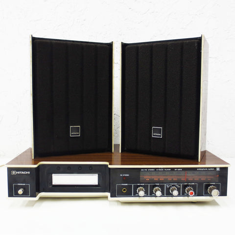 Vintage Mid Century Hitachi Radio Stereo Sound System 8 Track SP2812 Ambiophonic