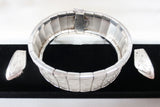 Vintage Art Deco 1920 Sterling Silver Bracelet 61gr 25mm 7.5in Fahrner Germany