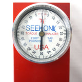 "Seekonic TAF 50 Torque Analyzer Tester 1/2"" Square Drive 0-50 Pounds / Foot, 13X4"" Heavy Duty Wall Mount, Red"