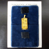 18k Yellow Gold Egyptian Hieroglyphic Cartouche Necklace Pendant from Cairo