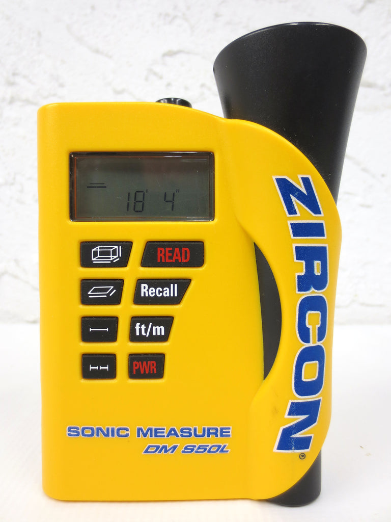 Zircon DM S50L Ultrasonic Sonic Measure Handheld Device with Laser Targeting