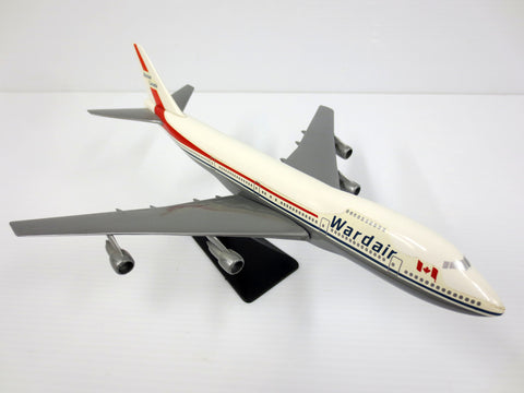 Vintage Wardair Canada Boeing 747 Model Airplane 105 Closed Airline