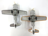 Two Vintage Cessna N453C Tin Toy Airplanes Air Patrol by K Koyo Kinzoku Japan