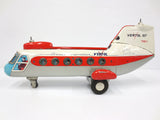 "Vintage Vertol 107 Tin Toy Passenger Jumbo Helicopter 13"" by TN Nomura Japan"