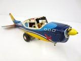 "Vintage 15"" Cessna 210 Tin Toy Wind-Up Airplane by Y Yonezawa Japan for Parts"