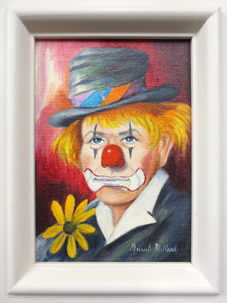 Sad Gris Pau Clown Painting by Famous Canadian Artist Muriel Millard 1922-2014