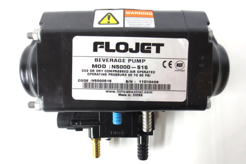 Flojet Syrup Beverage Pump N5000-515, CO2/Dry Compressed Air Operated 20-80 PSI