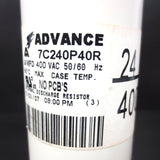 New Internal Discharge Resistor by Advance, 400 VAC 50/60 Hz, 195°C, #7C240P40R