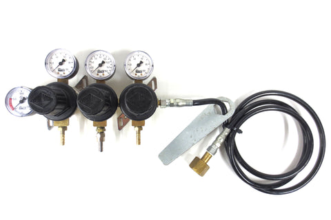 Taprite Fassco Triple Soda Machine Regulator 5740 Compressed Gas Carbon Dioxide